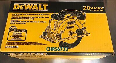 Brand New Dewalt DCS391B 20V Cordless Battery Circular Saw 20 volt DCS391 6 1/2