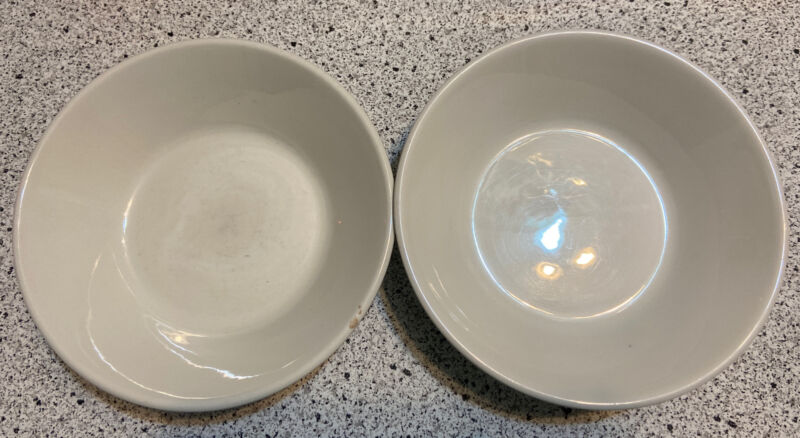 """(2)Midwinter STONEHENGE 6.5"""" CEREAL BOWLS Oven To Table White"""