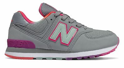 New Balance Kid's 574 Little Kids Female Shoes Grey with Blue