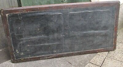 Antique Kneehole Table Top Leather Covered Green 37