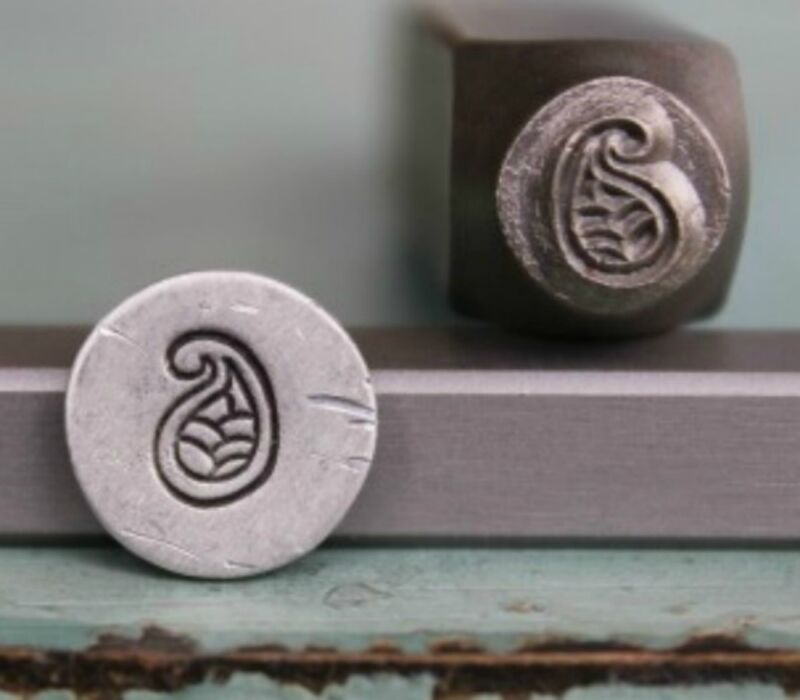 SUPPLY GUY 7mm Paisley Metal Punch Design Stamp (SGCH-29)