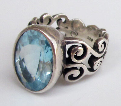 BRIGHTON Sterling Silver & Blue Stone DIVA ROCKS Ring Size 5 Retired! Glitzy! Diva Sterling Silver Ring