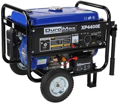 DuroMax XP4400E Electric Start 4,400 Watt Portable Gas Gener