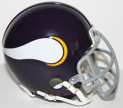 Custom Viking Helmet (Minnesota Vikings Purple People Eaters Riddell Custom Mini Helmet w Metal)