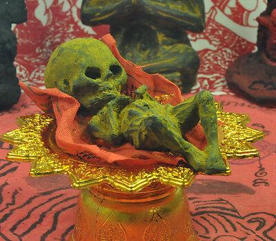 Thai Amulet Talisman Big Head Kuman Thong Ghost Baby Doll Black Magic Voodoo