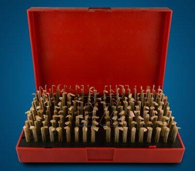 M1 Minus Plug Pin Gage Gauge Set 0.061-0.250 190 Pcs