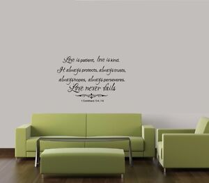 Love Is Patient Wall Decal Ebay