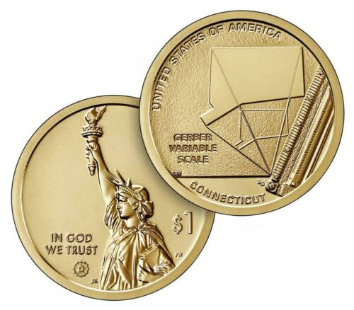 2020-P&D American Innovation $1 Coin - Connecticut