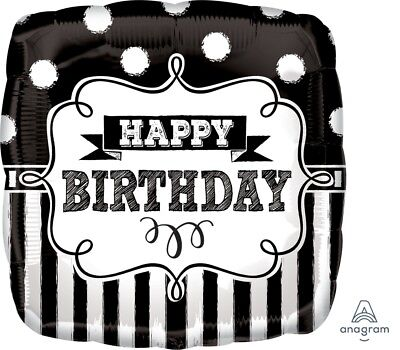 Lot of 5 Anagram 34452 Happy Birthday Chalkboard Mylar/Foil Balloons 18