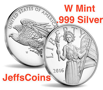 2016 W American Liberty Silver Medal Proof .999 Pure 1 troy oz. UH9 Eagle Blanks