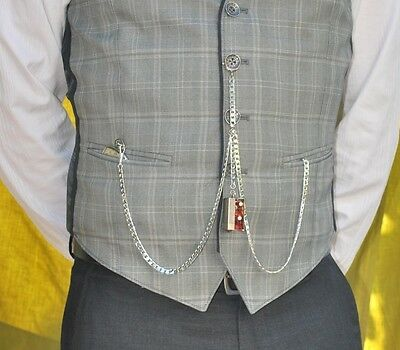 How to wear guide double albert pocket watch chains ebay