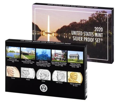 2020 S SILVER PROOF SET US MINT 10 COINS - REVERSE NO NICKEL