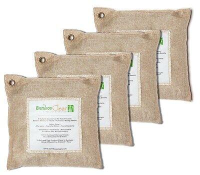 Bamboo Clear Natural Charcoal Deodorizer Air Purifying Bags~4 x 200 grams