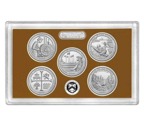2019 S CLAD National Park Quarters Proof Set No Box or COA ---