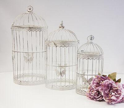 Klassische Runde Vogelkäfig Set 3 YW1460 Hochzeits Dekor Tafelaufsatz Heim