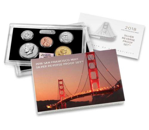 2018-S U.S. Silver Reverse Proof Set NGC GEM Reverse Proof FDI SKU54628