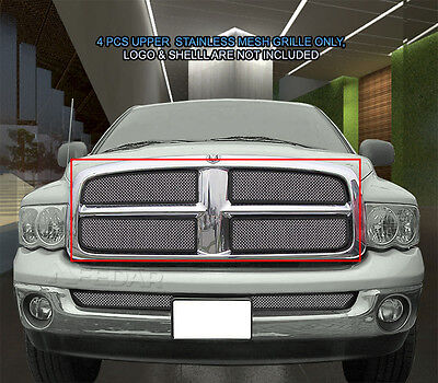 Main Upper Wire Mesh Grille Grill For 2002 2003 2004 2005 Dodge Ram