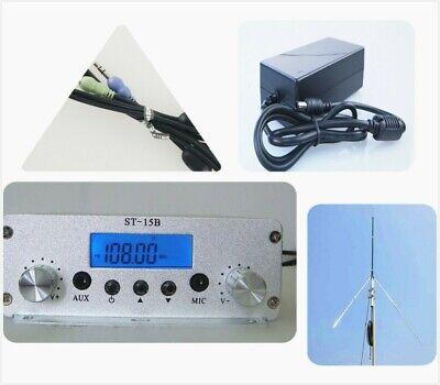St-15b 15w 76mhz-108mhz Fm Broadcast Transmitter Pll Fm Radio Antenna Power