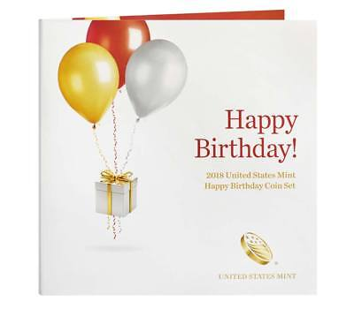 (2018 S US Mint Happy Birthday Proof 5 Coin Set (18RE) with Gift Card Folder )