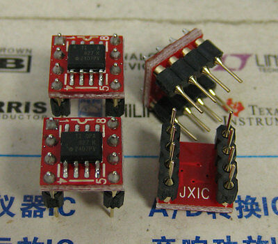 1x Opa827 Soic To Dip8 Low-noise High-precision Jfet-input Op Amp