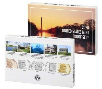 2020 U.S. MINT 10 COIN PROOF SET w/ AB QUARTERS, No W Nickel
