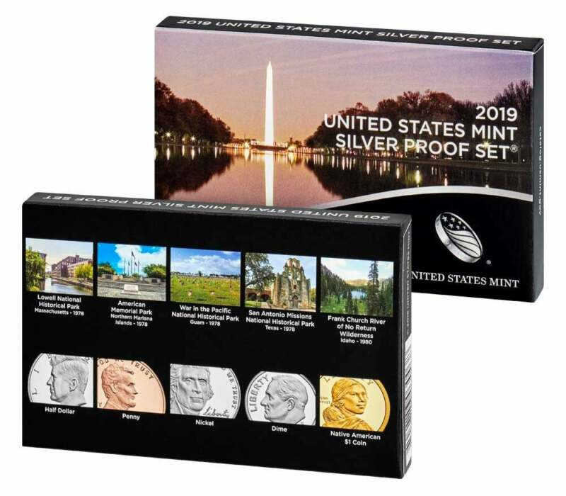 2019-S U.S. Mint Silver Proof Set, 10 Coins, OGP