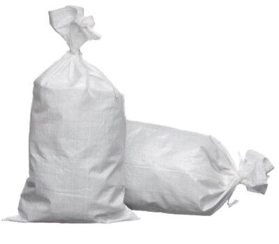 25 x White Woven Polypropylene Sandbags Sacks Flood Defence Sand Bags 40 x 60cm