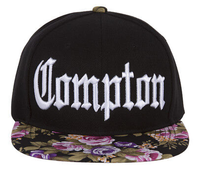 Flat Flowers (GT Compton Olde English Flowers Flat Bill Adjustable Snap)