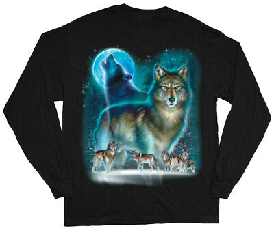 Wolf Pack T-shirt Wolves Design Nature Wildlife Design Tee Shirts Gifts for Men Wolfpack Designs