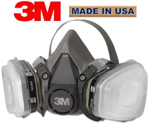 3M 6300 Half Face Reusable Respirator 7 in 1 set for Spraying and Painting LARGE