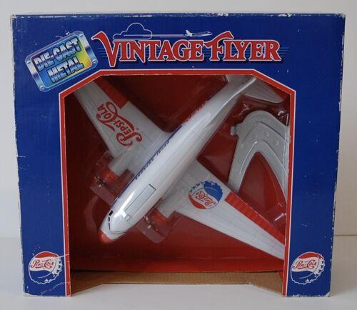 Pepsi Cola Vintage Flyer Die Cast Metal Bank NIB Airplane Stand Coins Rare