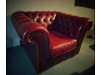 Chesterfield three piece suite - Oxblood Red