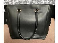 Ladies black tote bag