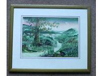 Very Unusual Original Encaustic Wax Painting by Michael Boston, Wales H21in/53cmW25in/64cm