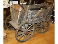 A Vintage Antique Wooden Trolley Chariot Decorative Nostalgia Rare
