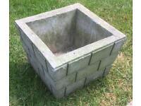 Square Brick Patterned Pot
