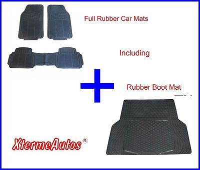 Full Rubber Protection Mat Set For Audi 100 200 80 A4 Avant A6 Allroad
