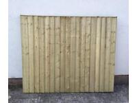 🌲Close Board Wooden Straight Top Tanalised Garden Fence Panels 🌲