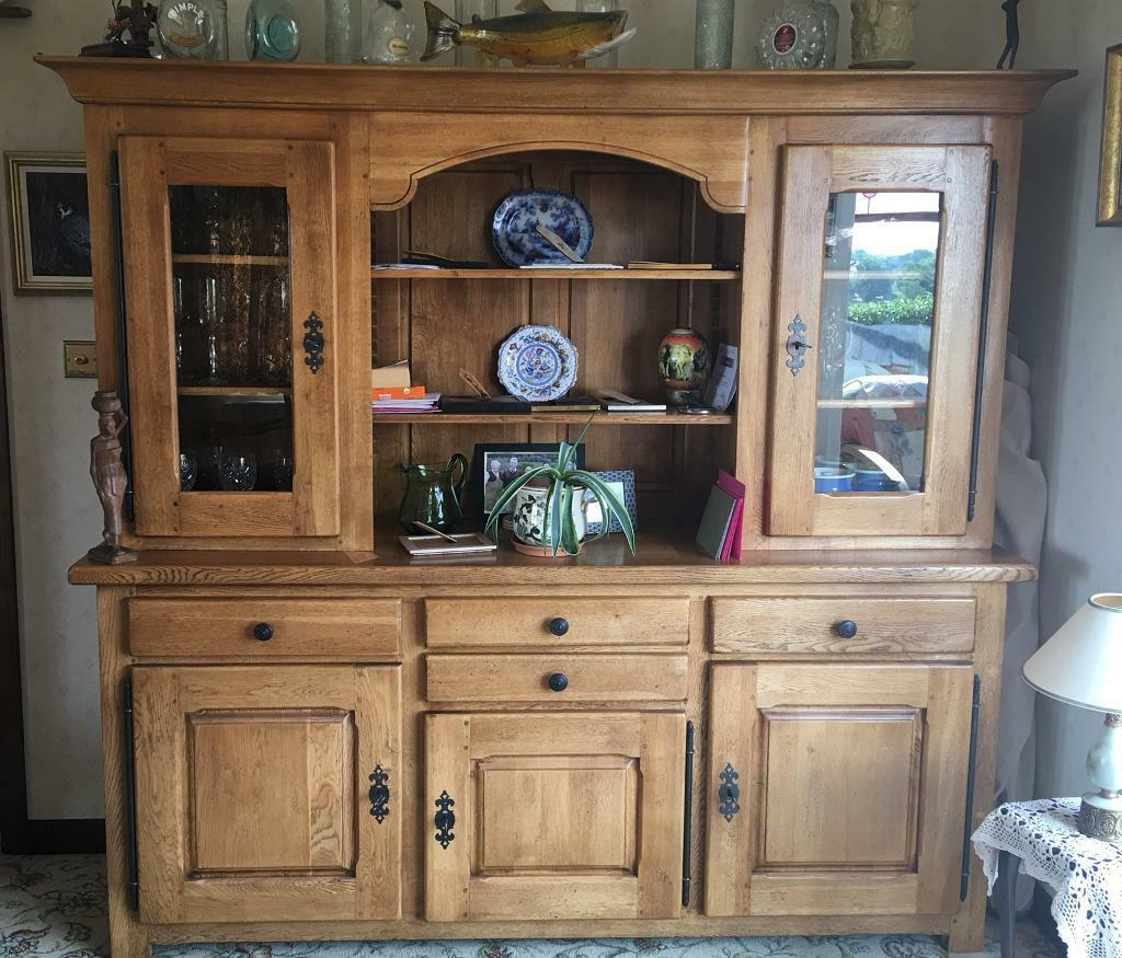 French Oak Kitchen Dining Room Dresser