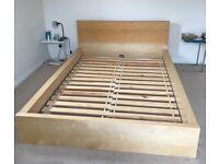Ikea Malm Beech Double Bed Frame