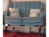 2 Seater Green Renaissance Sofa - Excellent Condition £20