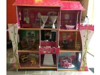 Elegant dolls house with furniture included.£50.Deluxe Art Activity Desk with compartments £50.