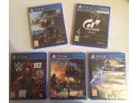 5 PS4 games bundle (ps4) sealed