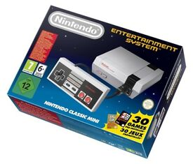 NEW SEALED NINTENDO CLASSIC MINI: NINTENDO ENTERTAINMENT SYSTEM (NES) & 30 GAMES