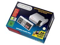 NEW SEALED NINTENDO CLASSIC MINI: NINTENDO ENTERTAINMENT SYSTEM (NES) & 30 GAMES
