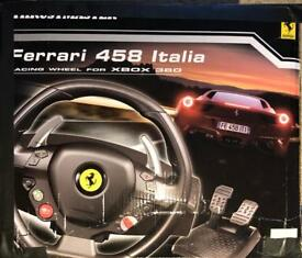 Xbox 360 Ferrari racing wheel with 7 games