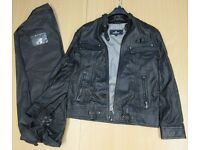 brand new leather jacket with FREE wallet and scarf