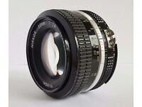 Nikon nikkor 50 mm f1.4 manual focus lens