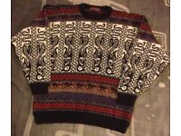 """Past Times mans jumper , size large 40-42"""" , used but as good as new"""