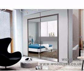 """Brand New "" Arsnal 2 Door Sliding Mirror Wardrobe -- Same Day Delivery ""Cheap Price"""